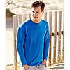 Мужская футболка с длинным рукавом синяя 038-51, фото 4