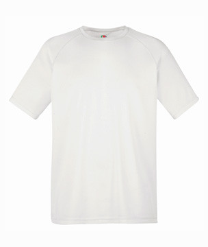 Мужская спортивная футболка полиэстер белая 390-30