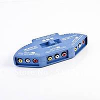 Свитчер RCA AV audio видео аудио селектор 3-х канальный игровой (3 AV RCA in вход - 1 AV RCA out выход)