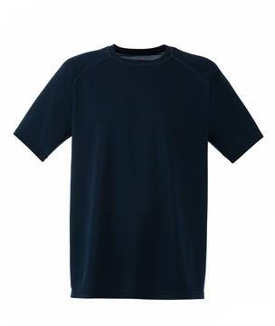 Чоловіча спортивна футболка поліестер темно синя 390-AZ