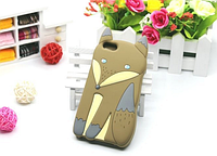 Силиконовый чехол коричневая лиса для Iphone 4/4S