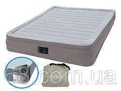 Надувна двоспальне ліжко Intex 67770 Comfort (152-203-33 см), вбудований електронасос p