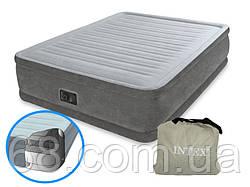 Надувна двоспальне ліжко Intex 64414 з вбудованим електро насосом (152-203-46 СМ) p