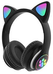Бездротові навушники з котячими вушками і RGB підсвіткою Cat VZV-23M Black (95607) p