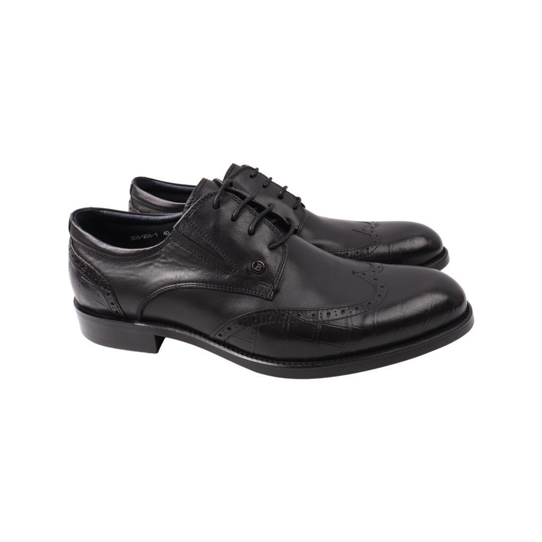 Туфлі чоловічі Brooman чорні натуральна шкіра