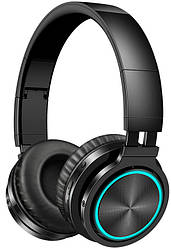 Бездротові Bluetooth-навушники Picun B12 з функцією плеєра і RGB підсвіткою Black p