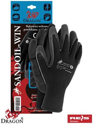Захисні утеплені рукавиці з додатковим покриттям SANDOIL-WIN BB, фото 2