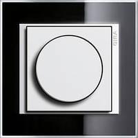Светорегулятор поворотный 400 Вт Gira Event clear Черный/Белый