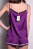 Піжама шовковий сон (Фіолетовий), фото 2