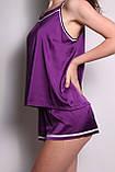 Піжама шовковий сон (Фіолетовий), фото 3
