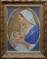 Схема для вышивки иконы Мадонна с младенцем (кротость)