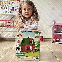 Набор для деревянной железной дороги Ферма Farme PlayTive 75 эл Германия