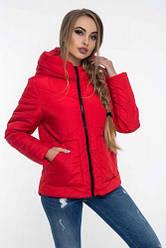 Красива жіноча куртка з капюшоном весна осінь розмір 42-52