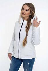 Молодіжні жіночі куртки демісезонні білі розмір 42-52