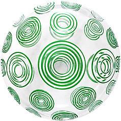 """Бабл 20"""" КИТАЙ-КТ Кристалл прозрачный - зеленые круги"""