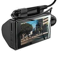 "Видео-регистратор - 5Мп камера - 2 камеры,режим парковки,система ADAS 1280х720 - 120° - Hoco DI07"""