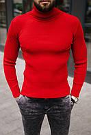 Гольф мужской базовый красного цвета