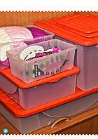 Емкость для хранения вещей с крышкой -40л