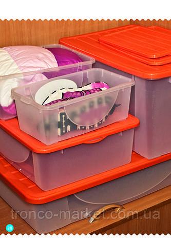 Емкость для хранения вещей с крышкой -40л, фото 2