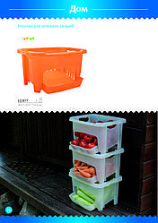 Корзина для хранения овощей, пластик