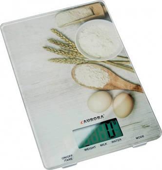 Ваги кухонні AURORA AU-4301 5 кг з малюнком зі скла (hub_BrsR83310)