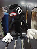 М'яка Іграшка Картун Дог Сиреноголовый Собака Cartoon Dog Siren Head, 30 см, Чорний,ручки і ніжки гнуться, фото 1