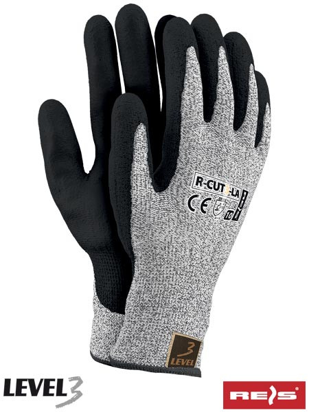 Перчатки защитные, изготовленные из пряжи HDPE R-CUT3-LA BWB