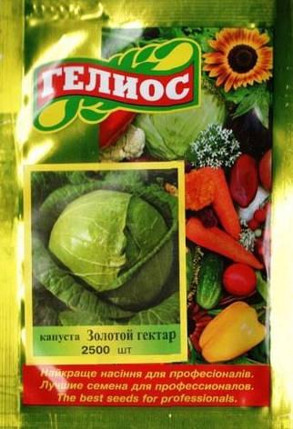 Семена капусты белокачанной Золотой гектар 2500 шт., фото 2