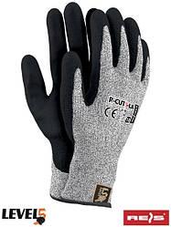 Рукавички захисні, виготовлені з пряжі HDPE R-CUT5-LA BWB