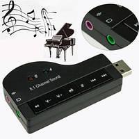 Звуковой адаптер USB 3D Sound 8.1 «Рояль»  *1339