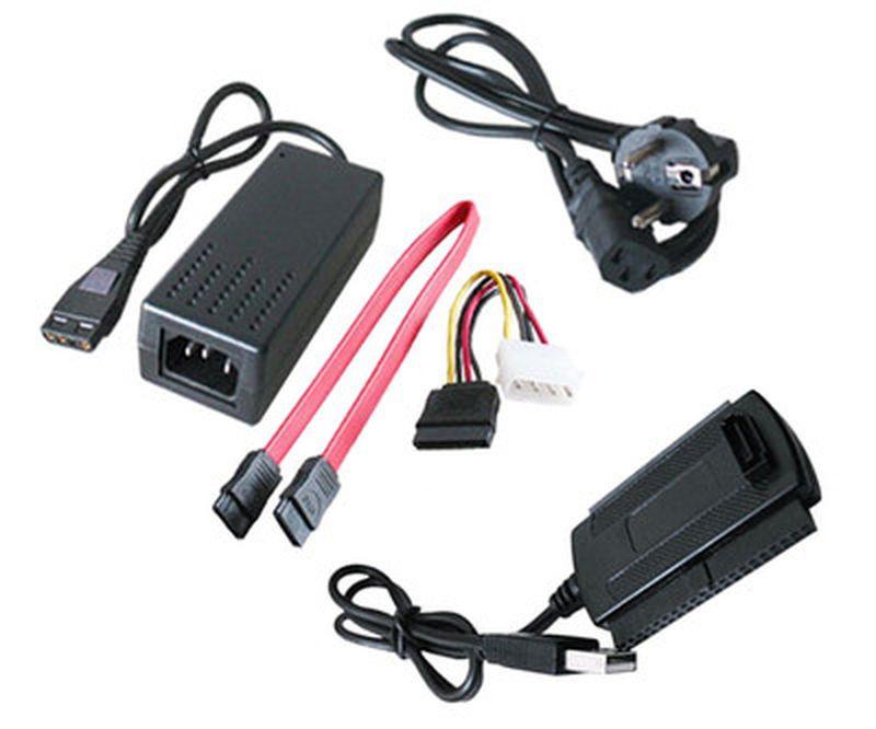 Внешний адаптер USB/SATA IDE 3,5 2,5 + БП + кабеля  *1057