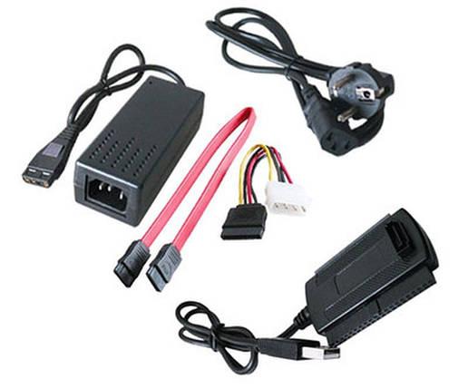 Внешний адаптер USB/SATA IDE 3,5 2,5 + БП + кабеля  *1057, фото 2