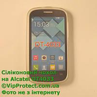 Alcatel 4033D, белый_силиконовый чехол, фото 1