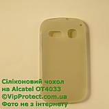 Alcatel 4033D, белый_силиконовый чехол, фото 2