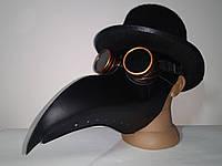 Набір чумної доктор маска в циліндрі з окулярами гогглы, фото 1