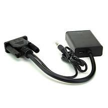 Конвертер с VGA на HDMI+AV (3,5) (коробка)  *1291, фото 2