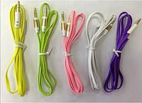 Аудио-кабель 3.5 jack M/M (лапша)  1,5м  *1079