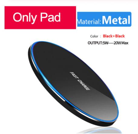 Бездротовий зарядний пристрій Qi, 30 Вт, для iPhone 11 12 X XR XS Max 8, Samsung