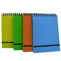 Блокнот А6 60 Mini book пластик.обложка, на спирали Оранжевый.BA6360