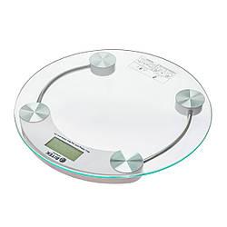 Цифрові підлогові ваги Domotec круглі прозорі до 180кг товщина 6мм 2003B