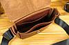 Кожаная мужская сумка Уильям, натуральная кожа итальянский Краст цвет коричневий, відтінок Вишня, фото 2