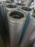 Дымоходная труба 1 м ф160/220 нерж/оц. 0,8мм AISI304, фото 1