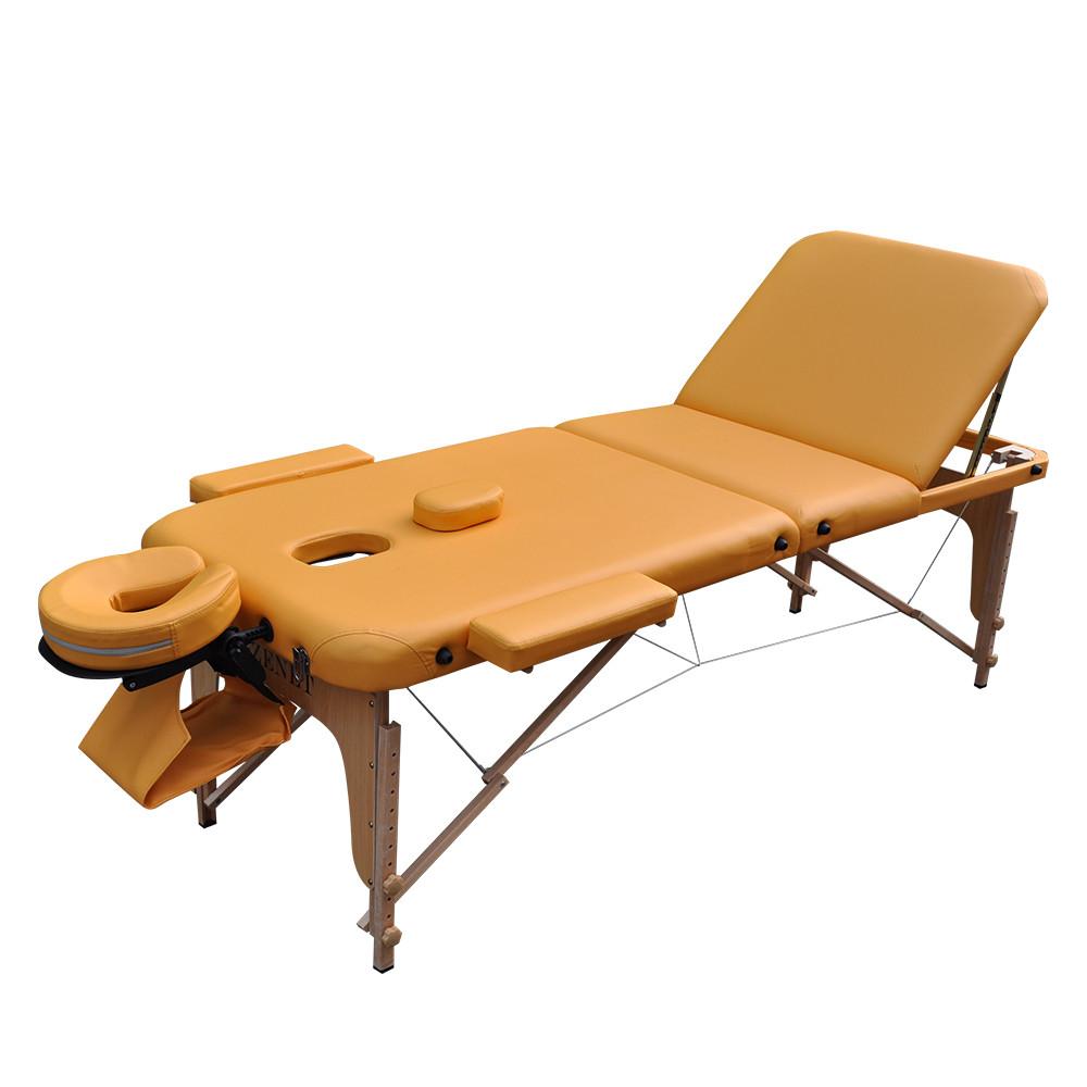 Масажний стіл дерев'яний ZENET ZET-1047 YELLOW розмір L ( 195*70*61)