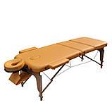 Масажний стіл дерев'яний ZENET ZET-1047 YELLOW розмір L ( 195*70*61), фото 2