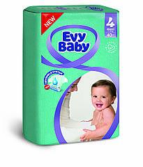 Подгузники детские Evy baby maxi elastic twin 4 (7-18 кг) 40 шт