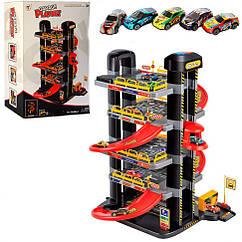 Игровой набор - паркинг P9188A-1 5 этажей, 5 машинок