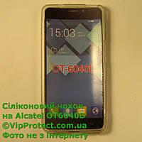 Alcatel 6040D, белый_силиконовый чехол, фото 1