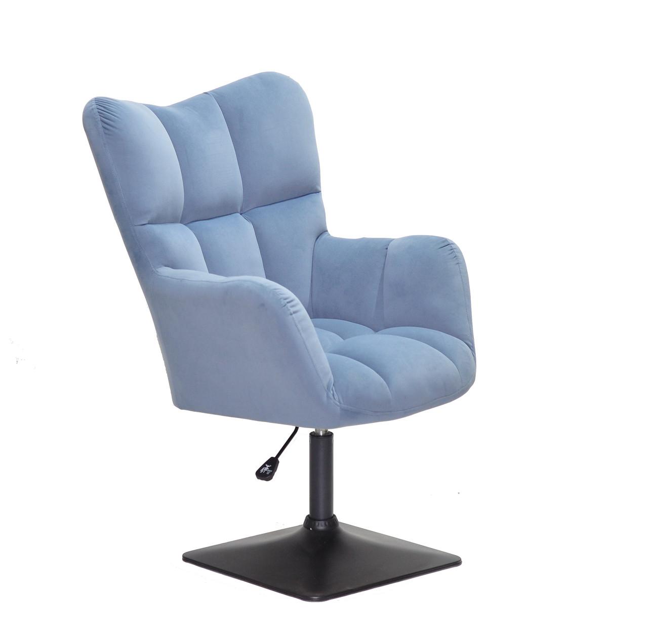 Офісне крісло OLIVER Б-Т СИНІЙ B - 1028 4-BK-BASE