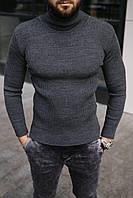 Гольф мужской базовый серого цвета