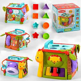 Інтерактивна розвиваюча іграшка «Музичний куб» КК 2697 (навчання, світло і звук, англ.озвучування)